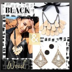 8ebcf40161d Plunder Design Vintage Costume Jewelry Savvy and Affordable Prices!!!  Modern chic style that still feels elegant and classy 😍 Black and wood  make an ...