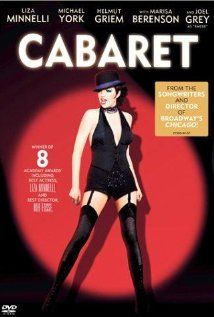 """Cabaret"" (1972), a Bob Fosse film, A female girlie club entertainer in Weimar Republic era Berlin romances two men while the Nazi Party rises to power around them."