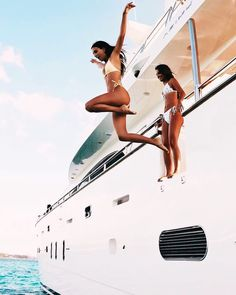 Jumping from a yacht into some crystal clear water? My kind of life goals!
