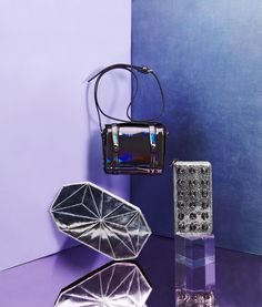 Stash your party essentials in metallic bags that make the night shine.