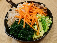 Vegetarian's Bibimbap  http://www.seriouseats.com/recipes/2012/01/the-occasional-vegetarians-bibimbap-recipe.html