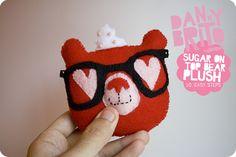 Valentine Fun w/ Guest Blogger Danny Brito : Super Simple & Awesome Sugar on Top Bear Plush! by Amanda Oaks, via Flickr