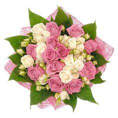 Артикул: 035-216 Состав букета: 13 роз розового цвета и 10 веточных роз кремового цвета, декоративная зелень, оформление Размер: Высота букета 50 см Роза: Выращенная в Украине http://rose.org.ua/bukety-iz-roz/1403-veterok.html #букеты #букетроз #доставкацветов #RoseLife #flowers #SendFlowers #купитьрозы #заказатьрозы   #розыпоштучно #доставкацветовкиев #доставкацветовукраина #срочнаядоставка #заказатьрозыкиев