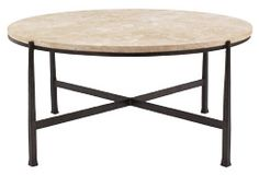 Bernhardt Interiors Round Metal Cocktail Table (418-016S, 418-016) by Bernhardt Hospitality
