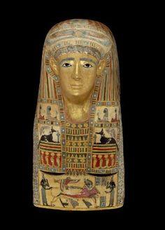 Mummy Mask, Egyptian, Greco-Roman Period, A.D. 1-50. Museum of Fine Arts, Boston.