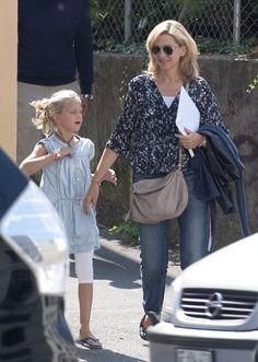 Imagen de la infanta Cristina y su hija Irene Urdangarin tomada el agosto 2014 por las calles de Ginebra