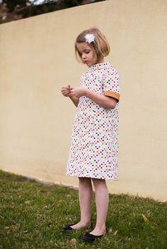 Polka Dot Oliver + S School Photo Dress // Stitched Together