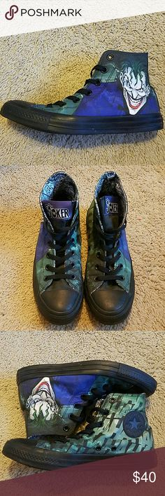Converse The Joker Converse. Comes with black and purple shoe laces. Worn only a few times! Great condition! Offers welcome. Converse Shoes Sneakers