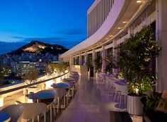 Galaxy Bar Hilton Athens  Lived is a gorgous rooftop bard with views of the parthenon..I recommend it! ad