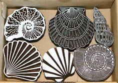 Special Summer Selection- Seashell print blocks from Colouricious