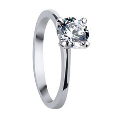 Swarovski Engagement Rings - FIONA Classic Four Prong Solitaire Engagement Ring - LarsonJewelers.com