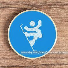 Snowboard  PDF cross stitch pattern  Sport  by galabornpatterns
