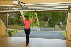 SecureAll Inc. U2013 Garage Door Screen System Close Up View Of The Garage Door  Screen