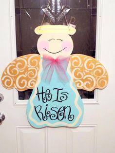 GUARDIAN ANGEL Wooden Door Hanger or Display by SouthernByDesignCo, $30.00