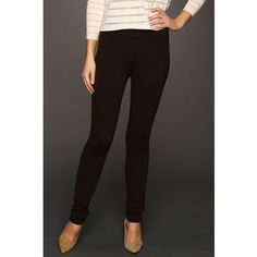 NYDJ Jodie Pull-On Ponte Knit Legging (Ganache (Brown)) ($55) ❤ liked on Polyvore featuring pants, leggings, brown, high waisted shiny leggings, shining leggings, high waisted pants, pull on pants and shiny leggings
