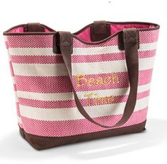 We're going to the Beach in style with the new Thirty-One Euro Straw Tote! ((diggin' this for the beach♥))