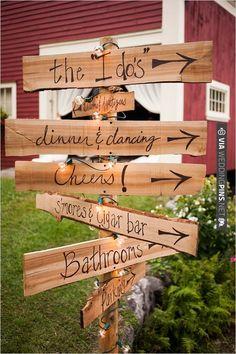 handmade wedding sign | VIA #WEDDINGPINS.NET