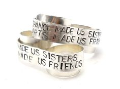 Sterling Personalized Ring Two Finger Ring Custom by MerCurios, $65.00