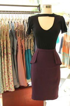Dita Purple Pencil Skirt