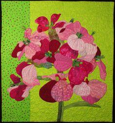 Handmade Art Quilt Wallflower by joystrings on Etsy