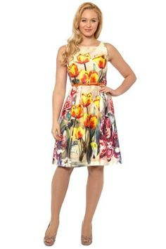 Roman Originals - Tulip Floral Print Cotton Dress