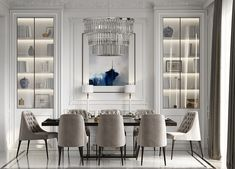 51 Luscious Luxury Dining Rooms Plus Tips And Accessories For Decorating Yours. Create a luxury dining room design with the help of these inspirational dining room decor ideas. Find luxury dining furniture and modern dining room lighting. Modern Dining Room Lighting, Luxury Dining Room, Luxury Rooms, Dining Room Sets, Luxury Home Decor, Dining Room Furniture, Luxury Interior, Modern Dining Rooms, Dining Chairs