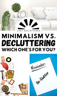 Although closely related decluttering and minimalism are not the same. So the question is which one is for you? Understand the differences today so you can make your first step closer to a more balanced life. #ladydecluttered #minimalism #decluttering #howtodeclutteryourhome #howtobeaminimalist Minimalist Quotes, Minimalist Kids, Minimalist Living, Declutter Your Mind, How To Get Motivated, Small Wardrobe, Balanced Life, Family Organizer, Life Organization