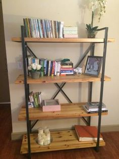 Showcase your favorite reads or treasured travel curios on this handsome bookcase, featuring an open design and x-shaped stretcher back. Perfect for every living room!! I live close to Galleria,...