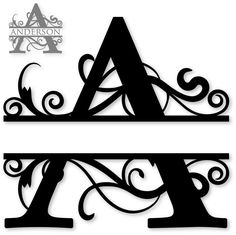 Silhouette Design Store - View Design 'a' monogram Cricut Monogram, Monogram Fonts, Monogram Letters, Letter Fonts, Initial Fonts, Font Alphabet, Cricut Fonts, Calligraphy Alphabet, Wood Letters