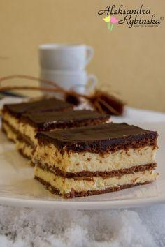 Sernik gotowany z polewa czekoladowa