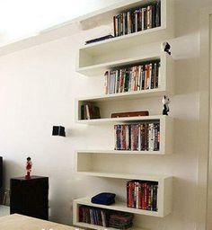 L型 创意壁挂书架。我想无论在小的空间都能容得下你。