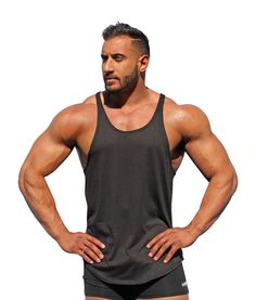 3f49b2b429355c Physique Bodyware Men s Blank Y-Back Stringer Tank Top XL Iron Black   Physique Bodyware s exclusive blank men s y back stringer tank tops are  preferred by ...