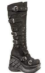 New Rock Ladies Platform Buckle Boots M.9831-S1    Mmmmmmmmmmmmmmmmmmm