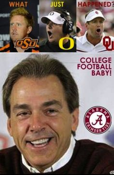I am not a Bama fan but this sure does make me laugh!! Saban has got it locked in!