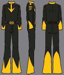 Star Blazers: Uniforme giallo nera - Questa è la tuta dei Black Tigers, i piloti dei caccia d'assalto che conosciamo anche come Tigri Nere.