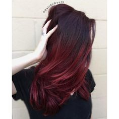 The 50 Sizzling Ombre Hair Color Solutions for Blond, Brown, Red and... ❤ liked on Polyvore featuring hair