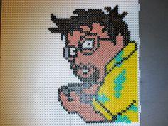 pixel art en perle hama: jeux videos