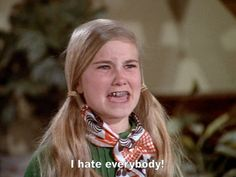 Marcia Brady hates everybody! - The Brady Bunch The Brady Bunch, Sexy Bikini, Marsha Brady, No More Tears, Teeth Straightening, Thats The Way, Old Tv, Movie Quotes, Favorite Tv Shows
