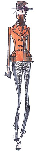 Peter Som  ---- Coffee Talks and Cat Walks: Fashion Week Fun: Designer Sketches