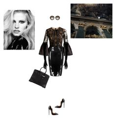 """Dark Paradise"" by luxuryfashion5 ❤ liked on Polyvore featuring Marchesa, Boohoo, Hermès, Atsuko Kudo, Christian Louboutin and Gucci"