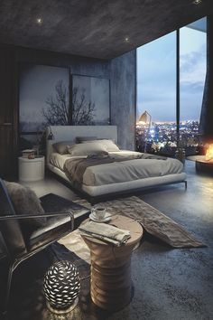 Nadire Atas on Scandinavian Bedrooms / Home Design Idea Here we showcase a a collection of perfectly minimal interior design photos for you to use for inspiration.Check out the previous post in the series: Inspiring Examples Of Minimal Interior Design 2 Luxury Bedroom Design, Master Bedroom Design, Dream Bedroom, Home Bedroom, Bedroom Designs, Luxury Decor, Master Bedrooms, Dark Bedrooms, Modern Bedrooms