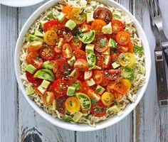 Turn A Cheap Packet Of Instant Ramen Into A Gourmet Meal  yummm   avocado basil tomato ramen