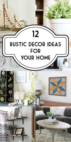 12 Rustic Decor Idea