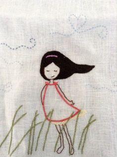 Resultado de imagem para tecido linho bordado livre