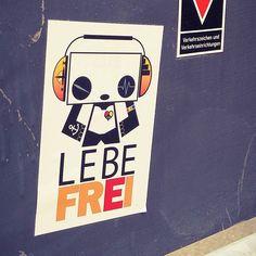 #sticker #streetart #pandakratie #stickertrades #vivelibre #urbanphoto #pandaismus #propapanda #streetart #spring #lebefrei #stickerart #stickertrade #pandakratie #stickerporn #stickerslap  #stickerartist #slaps #streetart #stickergalerie #stickerartgermany #aufkleberkunst #stickers #stickerporn #germanystreetart #inthestreets