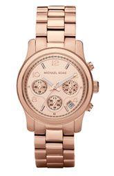 MICHAEL Michael Kors 'Large Runway' Rose Gold Watch   Nordstrom