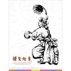 한국의 전통 춤 사물놀이 캘리그라피 연하장. 신년 카드 디자인 시리즈 (CARD010120) Korean traditional dance samulnori calligraphy greeting cards. New Year Card Design Series. Copyrightⓒ2000-2013 Boians.com designed by Cho Joo Young.