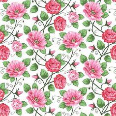 Papel De Parede Floral 19 | JMI DECOR | Elo7