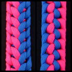 How to Make the Two-Color Stitched Flight Sinnet (Paracord) Bracelet by ...