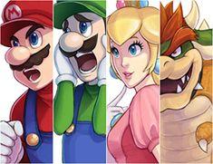 Mario Fan Art, Super Mario Art, Mario Bros., Super Mario Brothers, Metroid, Nintendo World, Nintendo Games, Mario All Stars, Princesa Peach